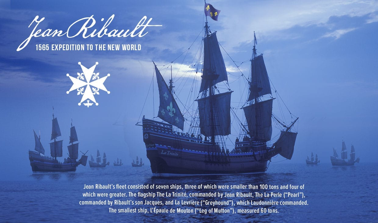 La Trinité Flagship of Jean Ribault Expedition to the New World 1565
