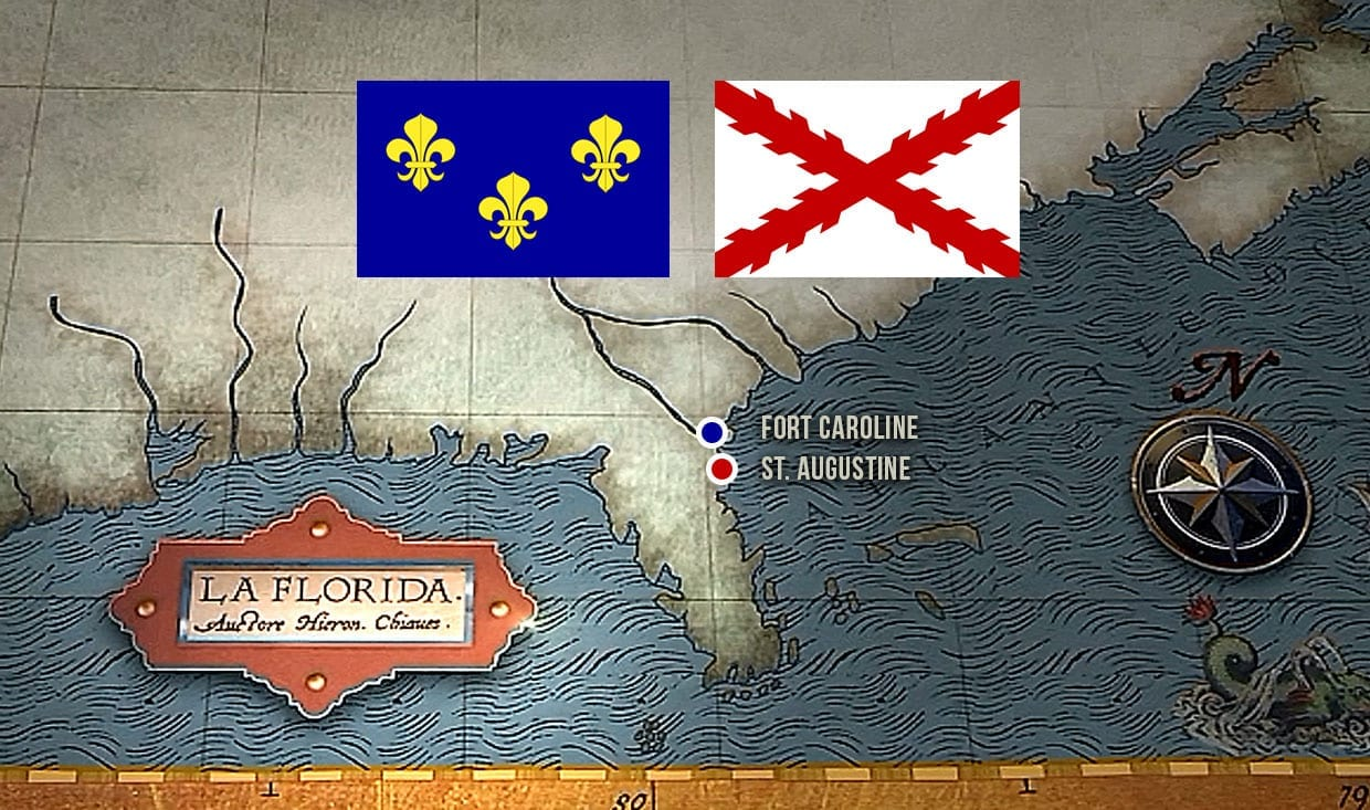 St. Augustine and Fort Caroline - Jean Ribault and Pedro Menendez