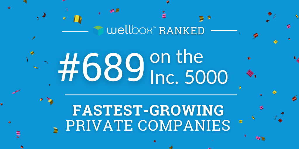 Wellbox ranks as No. 689 on its annual Inc. 5000 list, the most prestigious ranking of the nation's fastest-growing private companies.